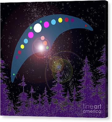 Canvas Print featuring the painting Alien Skies by James Williamson