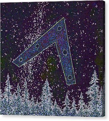 Canvas Print featuring the painting Alien Skies Ufo by James Williamson