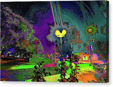Alien Station 1031 To The Sun Canvas Print by Kenneth James