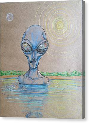 Alien Submerged Canvas Print