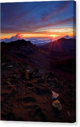 Alien Sunrise Canvas Print by Mike  Dawson