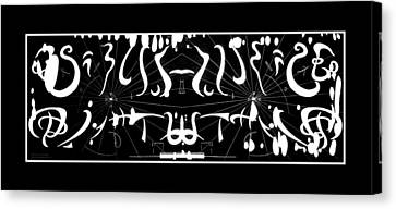 Alien Symphony Musical Score From Another Planet Canvas Print by Robert Kernodle