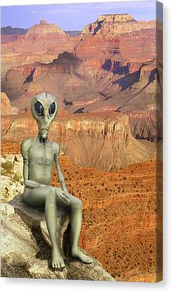 Alien Vacation - Grand Canyon Canvas Print by Mike McGlothlen
