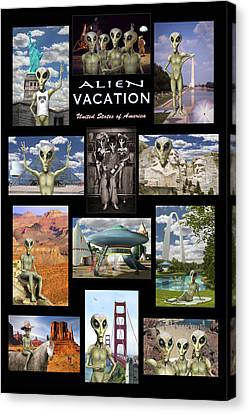 South Hall Canvas Print - Alien Vacation - Poster by Mike McGlothlen