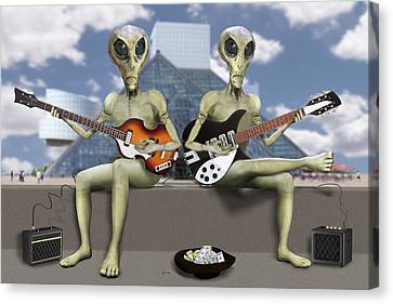 Canvas Print - Alien Vacation - Trying To Make Ends Meet by Mike McGlothlen