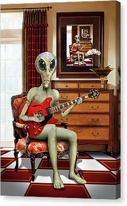 Alien Vacation - We Roll With Jazz Canvas Print by Mike McGlothlen