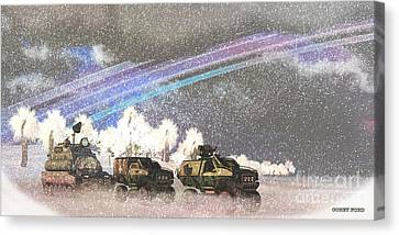 Alien Winter Storm Canvas Print by Corey Ford