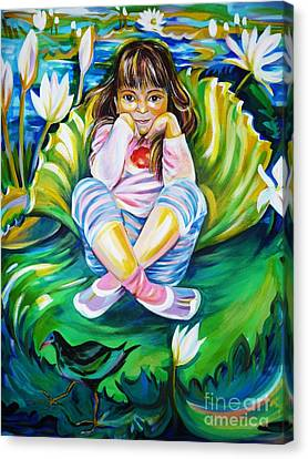 Canvas Print featuring the painting Alissa by Anna  Duyunova