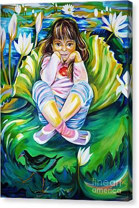 Alissa Canvas Print by Anna  Duyunova