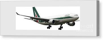 Alitalia, Airbus A330-202. Canvas Print by Amos Dor