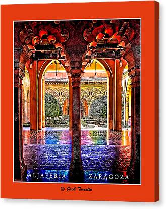 Canvas Print featuring the photograph Aljaferia Coloratura by Jack Torcello
