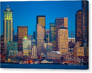 Pacific Northwest Ferry Canvas Print - Alki View by Inge Johnsson