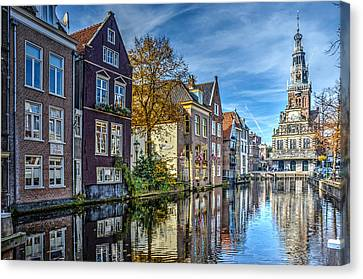 Alkmaar From The Bridge Canvas Print