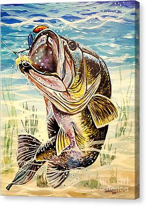 All About The Bass Canvas Print by Sandra Lett