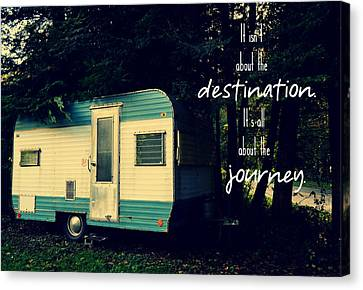All About The Journey Canvas Print by Robin Dickinson
