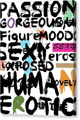 All Abut Words 2 Canvas Print by Mark Ashkenazi