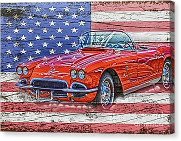 All American Beauty Canvas Print by Judy Hall-Folde
