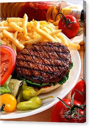 All American Burger Canvas Print by Vance Fox