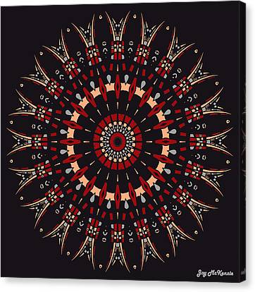 All Arrows Hit The Bullseye Canvas Print by Joy McKenzie