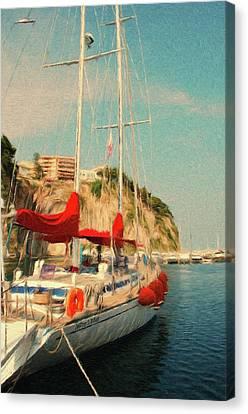 Sail Boat Canvas Print - All Ashore by Jeffrey Kolker