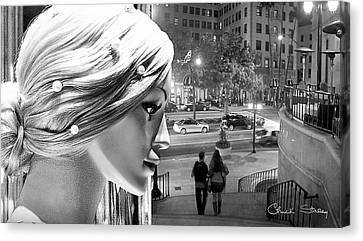 Canvas Print featuring the photograph All Dressed Up And No Place To Go - B W by Chuck Staley