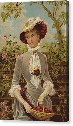 All In A Garden Fair Canvas Print by English School