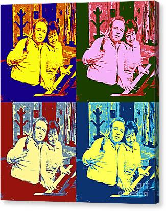 All In The Family Pop Art Canvas Print by Pd