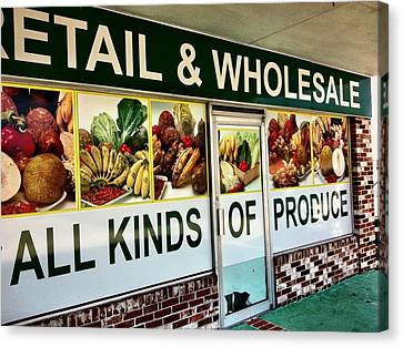 All Kinds Of Produce Canvas Print by Carlos Avila