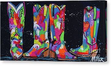 All Lined Up Canvas Print by Tracy Miller