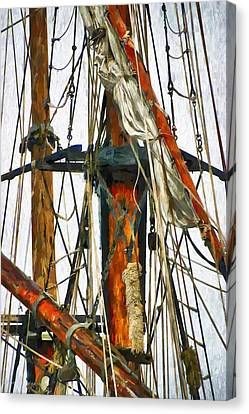 All Masts Canvas Print by Karo Evans