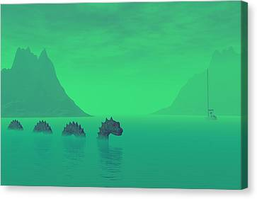 All Quiet In The Loch Canvas Print
