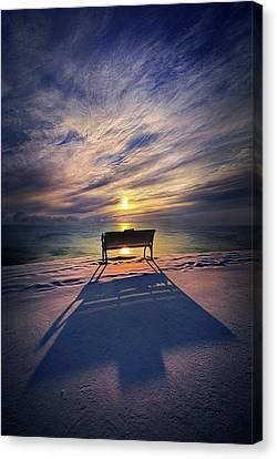 Canvas Print featuring the photograph All Shadows Chase Swift by Phil Koch