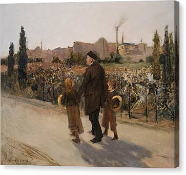 Old Man Canvas Print - All Souls Day by Jules Bastien-Lepage