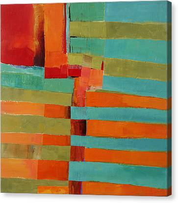 Abstract Art Canvas Print - All Stripes 2 by Jane Davies