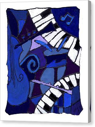 All That Jazz 3 Canvas Print