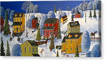 All The Christmas Glitter Canvas Print by Debbie Criswell