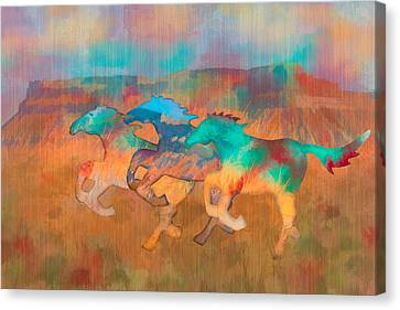 All The Pretty Horses Canvas Print by Christina Lihani