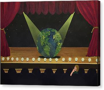 All The World's On Stage Canvas Print by Thomas Blood