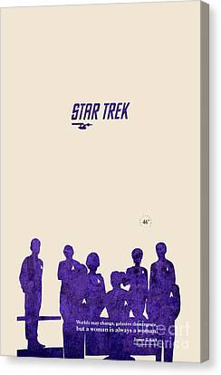 All Togheter - Purple Star Trek Canvas Print by Pablo Franchi
