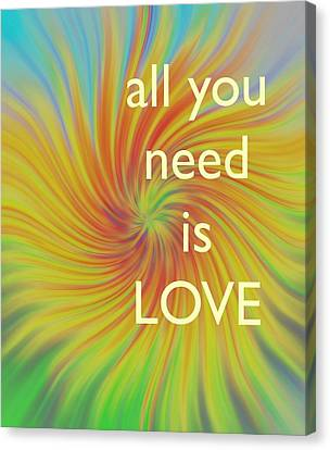 All You Need Is Love Twirl Canvas Print by Terry DeLuco