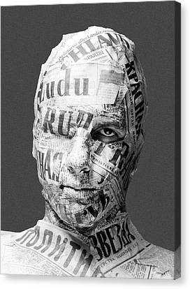 Censorship Canvas Print -  Allegory Of Communist Press Censorship Analogue Picture  by Paul Fearn