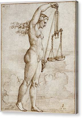 Allegory Of Justice Canvas Print