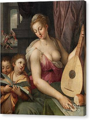 Allegory Of Music Canvas Print by Frans Floris