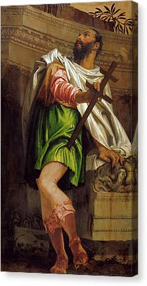 Allegory Of Navigation With A Cross Staff Averroes Canvas Print