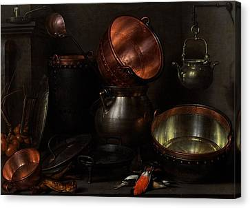 Allegory Of The Four Elements Canvas Print by Cornelis Jacobsz Delff