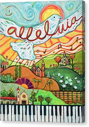 Alleluia Canvas Print by Jen Norton