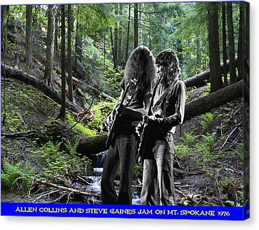 Canvas Print featuring the photograph Allen And Steve On Mt. Spokane by Ben Upham