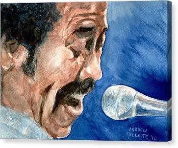 Allen Toussaint Canvas Print by Andrew Gillette