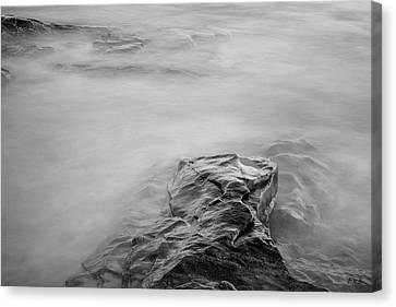 Canvas Print featuring the photograph Allens Pond Xii Bw by David Gordon