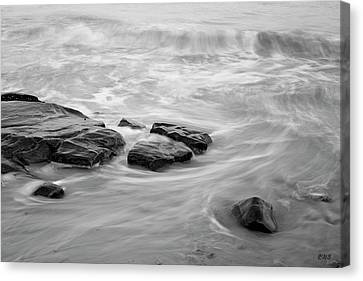 Canvas Print featuring the photograph Allens Pond Xiii Bw by David Gordon